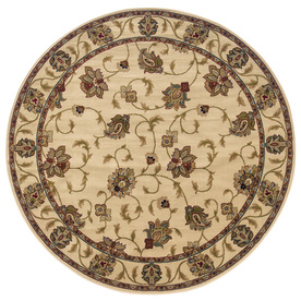 Oriental Weavers of America Addison Ivory Round Indoor Woven Nature Area Rug (Common: 8 x 8; Actual: 92-in W x 92-in L x 7.67-ft Dia)