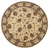 Oriental Weavers of America Addison 92-in x 92-in Round Cream/Beige/Almond Floral Area Rug