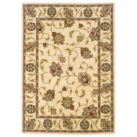 Oriental Weavers of America Addison 118-in x 153-in Rectangular Cream/Beige/Almond Floral Area Rug