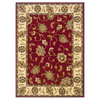 Oriental Weavers of America Addison 92-in x 130-in Rectangular Red/Pink Floral Area Rug