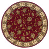Oriental Weavers of America Addison 92-in x 92-in Round Red/Pink Floral Area Rug