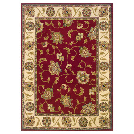 Oriental Weavers of America Addison 118-in x 153-in Rectangular Red/Pink Floral Area Rug