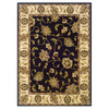 Oriental Weavers of America Addison 63-in x 90-in Rectangular Black Floral Area Rug