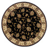 Oriental Weavers of America Addison 92-in x 92-in Round Black Floral Area Rug