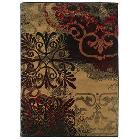 Sedia Home Caroline Neutral Rectangular Indoor Woven Area Rug (Common: 8 x 10; Actual: 94-in W x 120-in L)