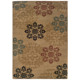 Sedia Home Lacy Gold Rectangular Indoor Woven Nature Area Rug (Common: 5 x 7; Actual: 60-in W x 87-in L)