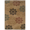 Sedia Home Lacy 60-in x 87-in Rectangular Yellow/Gold Transitional Area Rug