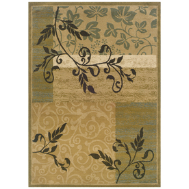 Sedia Home Anna Gold Rectangular Indoor Woven Nature Area Rug (Common: 5 x 7; Actual: 60-in W x 87-in L)