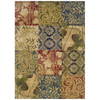 Sedia Home Hannah 60-in x 87-in Rectangular Yellow/Gold Transitional Area Rug
