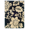 Sedia Home Rebecca 38-in x 65-in Rectangular Black Floral Area Rug