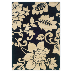 Sedia Home Rebecca Black Rectangular Indoor Woven Nature Area Rug (Common: 8 x 10; Actual: 94-in W x 120-in L)