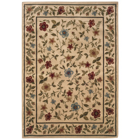Sedia Home Kaylee 94-in x 120-in Rectangular Cream/Beige/Almond Floral Area Rug