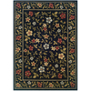 Sedia Home Kaylee 38-in x 65-in Rectangular Black Floral Area Rug