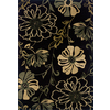 Oriental Weavers of America Alyssa 5-ft 3-in x 90-in Rectangular Black Floral Area Rug