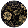 Oriental Weavers of America Alyssa 7-ft 8-in x 7-ft 8-in Round Black Floral Area Rug