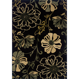 Oriental Weavers of America Alyssa 7-ft 8-in x 10-ft 10-in Rectangular Black Floral Area Rug