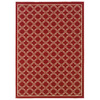 Oriental Weavers of America Jaxson 5-ft 3-in x 7-ft 5-in Rectangular Red Transitional Indoor/Outdoor Area Rug