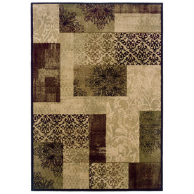 allen + roth Harrisburg 5-ft 3-in x 7-ft 6-in Rectangular Beige Transitional Area Rug