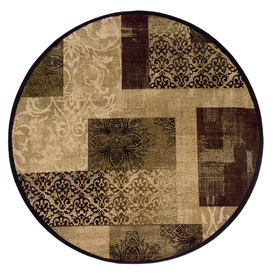 allen + roth Harrisburg Round Cream Transitional Woven Area Rug (Common: 8-ft x 8-ft; Actual: 7.66-ft x 7.66-ft)