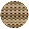 Style Selections Wexford 7-ft 10-in x 7-ft 10-in Round Beige Transitional Area Rug