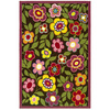 Style Selections Harper 30-in x 46-in Rectangular Multicolor Floral Accent Rug