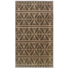 allen + roth Keesport 22-in x 39-in Rectangular Gray Geometric Accent Rug