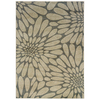 Oriental Weavers of America Upton 26-in x 39-in Rectangular Gray Floral Accent Rug