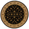 allen + roth Kennett 92-in x 92-in Round Black Floral Area Rug