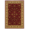 allen + roth Kennett 92-in x 130-in Rectangular Red/Pink Border Area Rug