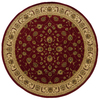 allen + roth Kennett 92-in x 92-in Round Red/Pink Floral Area Rug