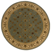 allen + roth Kennett 92-in x 92-in Round Blue Floral Area Rug