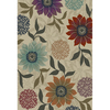 Oriental Weavers of America Cumberland 46-in x 65-in Rectangular Cream/Beige/Almond Floral Area Rug