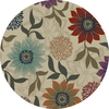 Oriental Weavers of America Cumberland 92-in x 92-in Round Cream/Beige/Almond Floral Area Rug