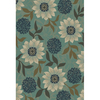 Oriental Weavers of America Cumberland 92-in x 130-in Rectangular Blue Floral Area Rug