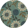 Oriental Weavers of America Cumberland 92-in x 92-in Round Blue Floral Area Rug