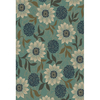 Oriental Weavers of America Cumberland 118-in x 153-in Rectangular Blue Floral Area Rug