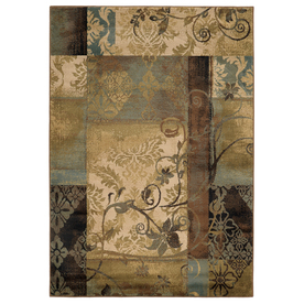 Style Selections Lingfield Rectangular Cream Transitional Woven Area Rug (Common: 4-ft x 6-ft; Actual: 3.83-ft x 5.41-ft)