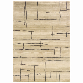 allen + roth Lamport Ivory Rectangular Indoor Woven Area Rug (Common: 10 x 13; Actual: 117-in W x 146-in L)