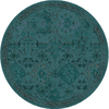 allen + roth Belsburg Teal Round Indoor Woven Oriental Area Rug (Common: 8 x 8; Actual: 94-in W x 94-in L x 7.83-ft Dia)