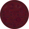allen + roth Belsburg Red Round Indoor Woven Oriental Area Rug (Common: 8 x 8; Actual: 94-in W x 94-in L x 7.83-ft Dia)