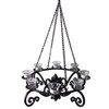 allen + roth 19-in Black Metal Votive Candle Outdoor Decorative Lantern