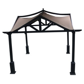 allen + roth 10-ft x 10-ft x 120-in x 6-ft 9-in Brown Steel Gazebo