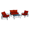Garden Treasures 4-Piece Colony Park Patio Conversation Set