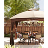 allen + roth Brown Rectangle Screened Gazebo