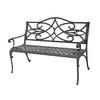 Garden Treasures 25-in L x 50-in D x 34-in H Waterbridge Aluminum Black Park Chair