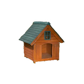 Shop leisure time products large cedar dog house at lowescom for Dog houses sold at lowes