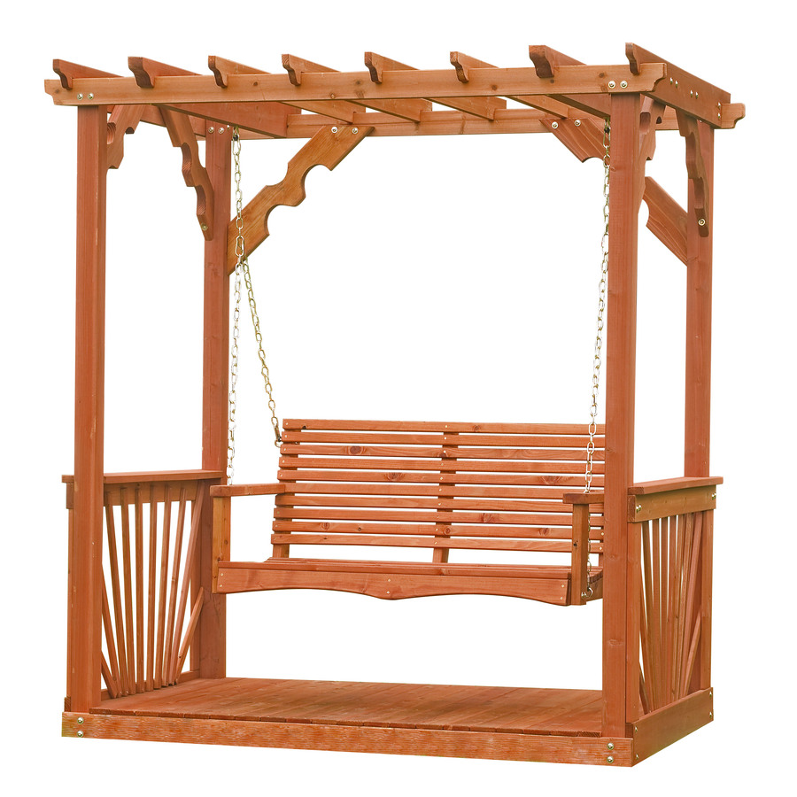 Swing Seat Garden Arbour Wood Timber Galvanised Base Fittings New ...