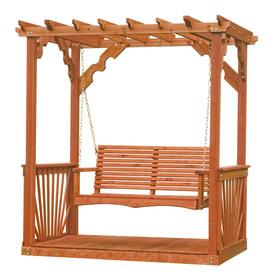 Leisure Time Products 2-Seat Wood Adirondek Pergola Swing
