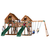 Backyard Discovery Vista All Cedar Wood Playset with Swings