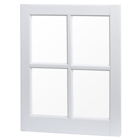 Project Source 20-1/4-in x 25-1/4-in White Vinyl Single Pane Rectangular Utility Barn Sash Fixed Picture Window